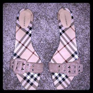 Burberry - Burberry Print Slide Strap Sandals